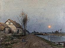 René Billotte. Scène de crépuscule