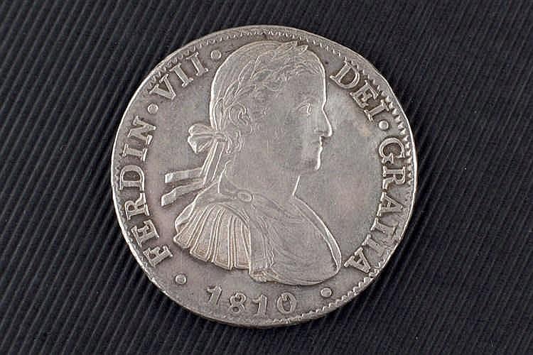 8 reales. Fernando VII. 1810. Méjico