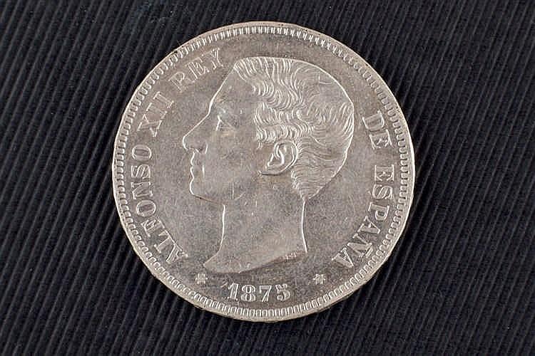 5 pesetas. Alfonso XII. 1875.