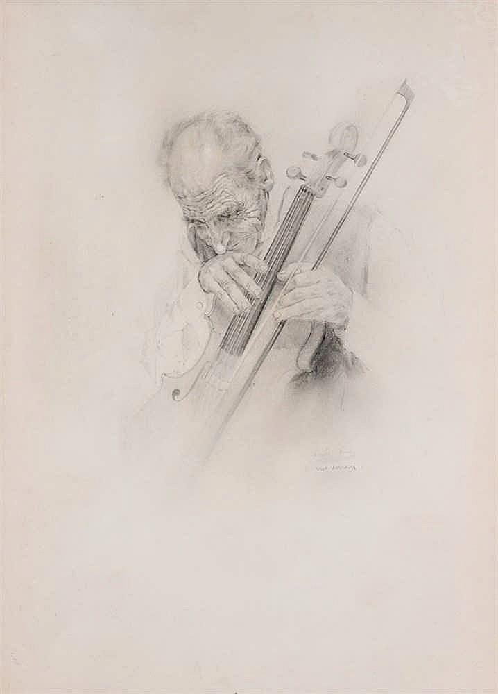 Vicente Alonso. Viejo violinista