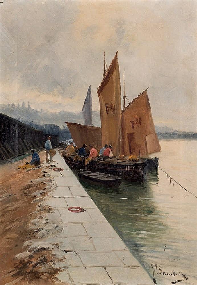 *F. Sanchiz. Fishing dock