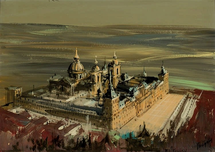 Spanish School. 20th.C. El Escorial