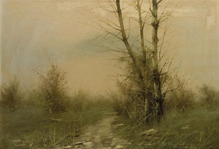 Carlos Morago. Landscape with river