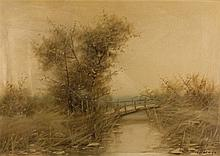 Carlos Morago. Landscape with river