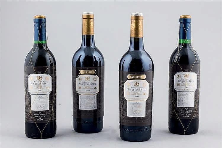 4 bottles Marqués de Riscal