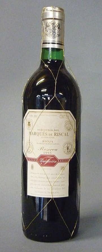 12 bottles Marqués de Riscal Reserva 1995