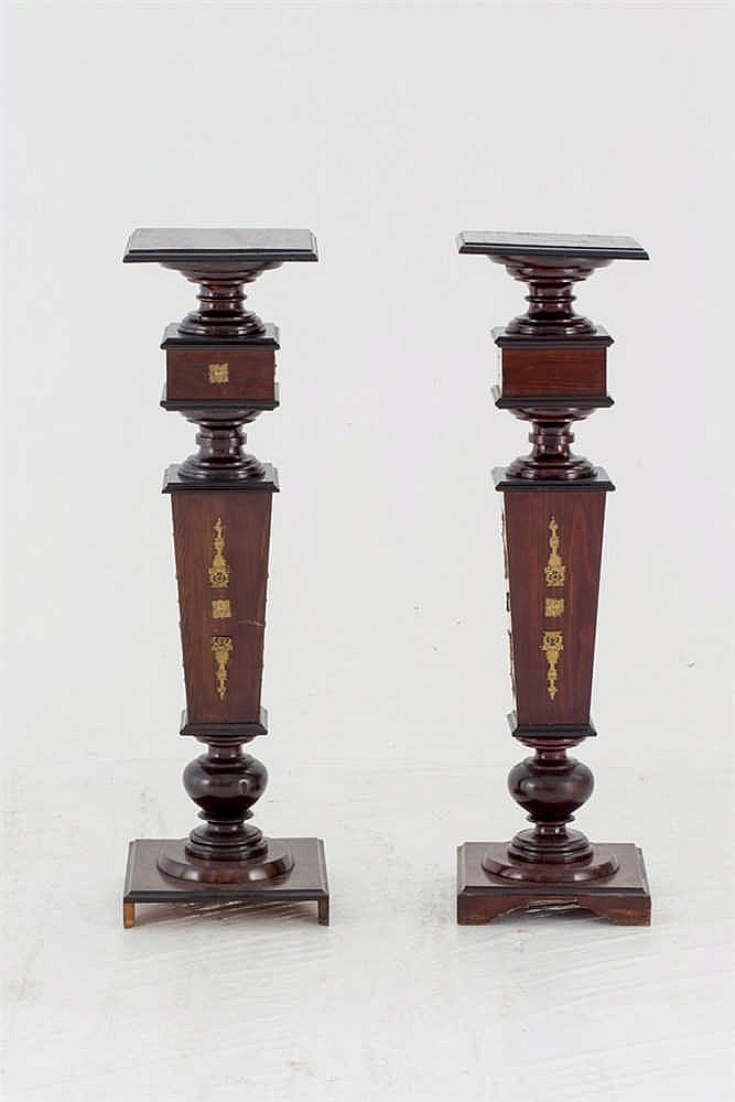 A pair of Empire style. wood stand. Early 20 th.C