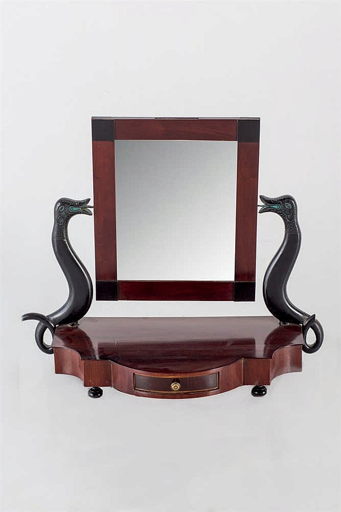 A 19 th.C Spanish toilet mirror