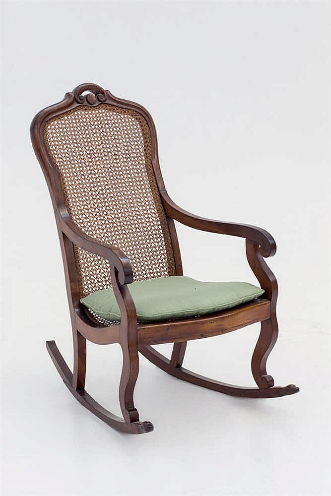 A 19 th. C Spanish rocking chair