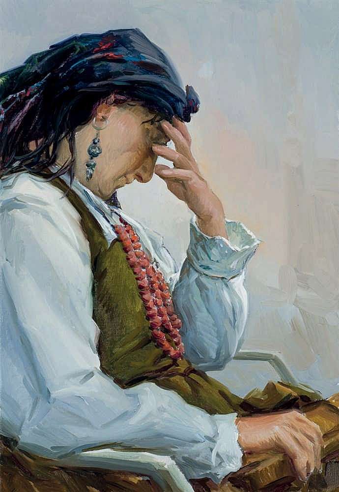 Francisco Vadillo. Old woman