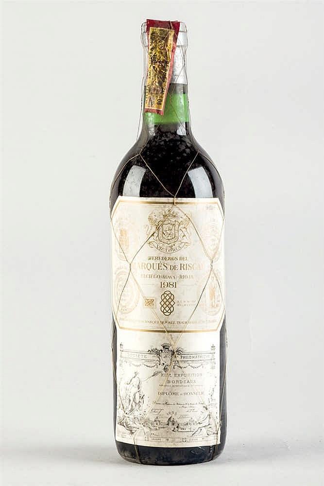 11 bottles Rioja Marqués de Riscal 1981