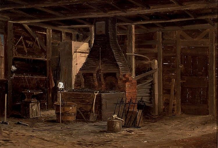 *C.C. Redmond. Blacksmith Shop