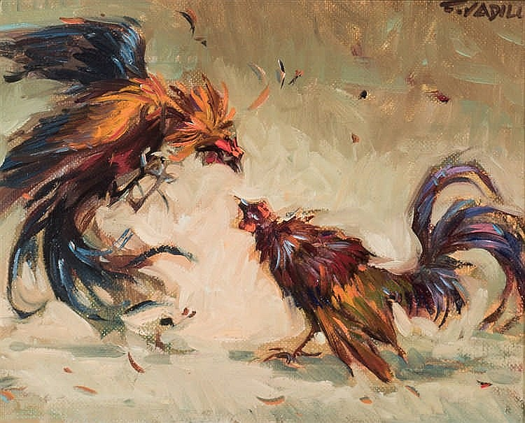 Francisco Vadillo. Rooster fight