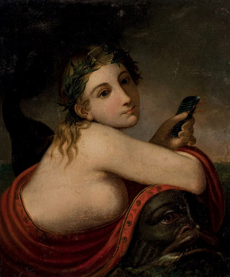 Italian 19th C. School. Nereid and Triton