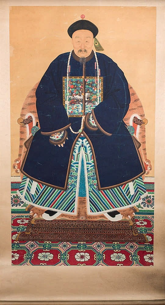 Chinese School, 20th C. Portrait of a Dignitary