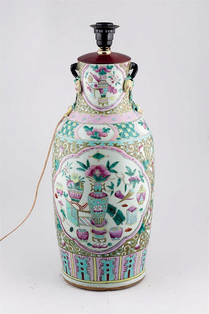 A Chinese Vase transformed into Lamp