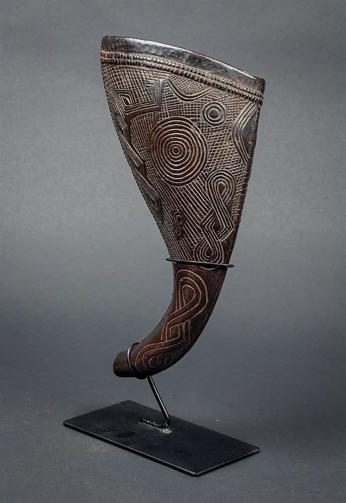 A Kuba Horn, c. 1920-30. D. R. Congo
