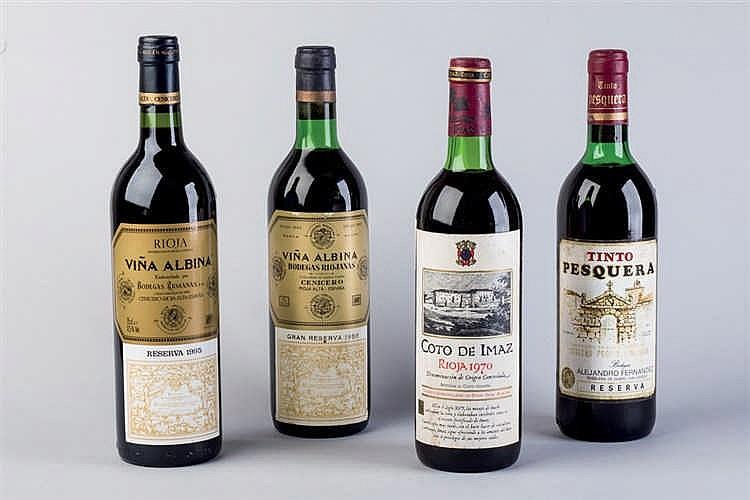6 Spanish wine bottles