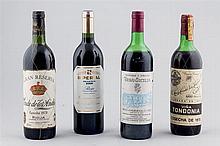 4 wine bottles