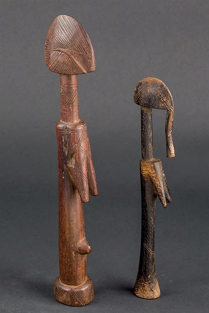2 Mossi Dolls, c. 1960-70. Burkina Faso
