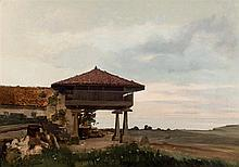 19-20th C. Spanish School. House near the sea