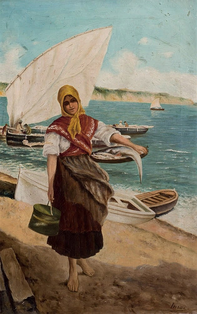 *Insúa. Fisher woman