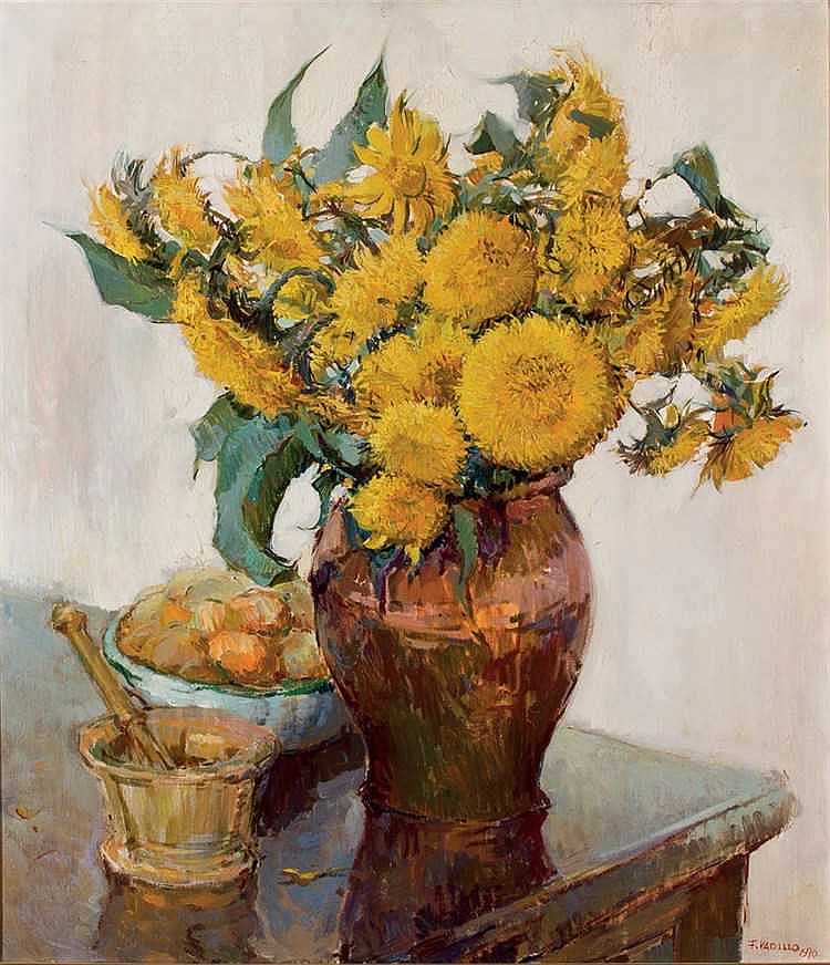 Francisco Vadillo. Sunflower Still Life