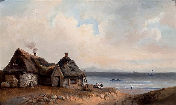 19th C. Belgian School. Coast Landscape