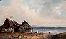 19th C. Belgian School. Coast Landscape