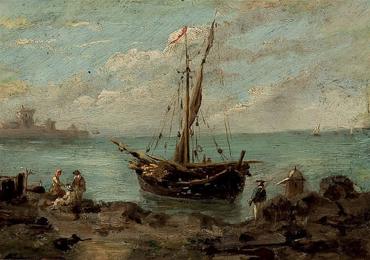 Van Goyen Follower. Fishermen