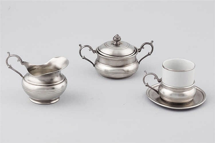 A French pewter coffee set