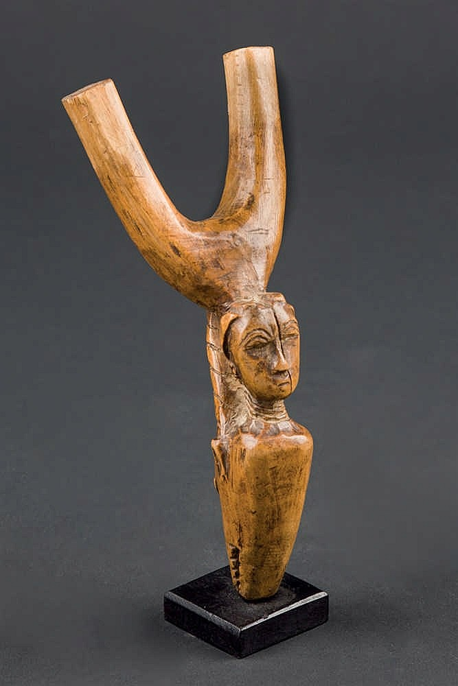 A Baule Slingshot, c. 1920. Ivory Coast