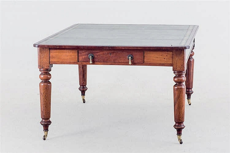 A 19th.Victorian mahogany work table
