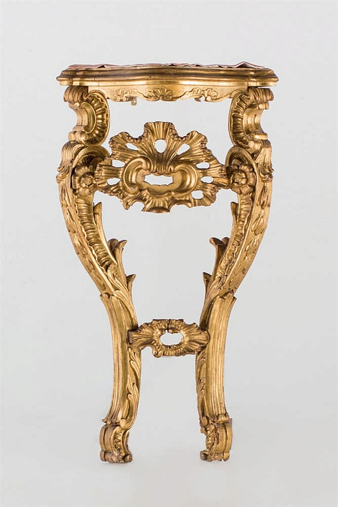 A 18th.C Spanish gilt wood console