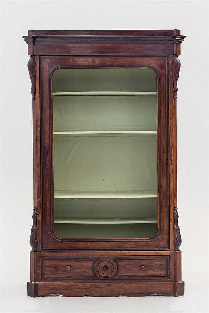 A cupboard transformed into a boo-case.19th.C