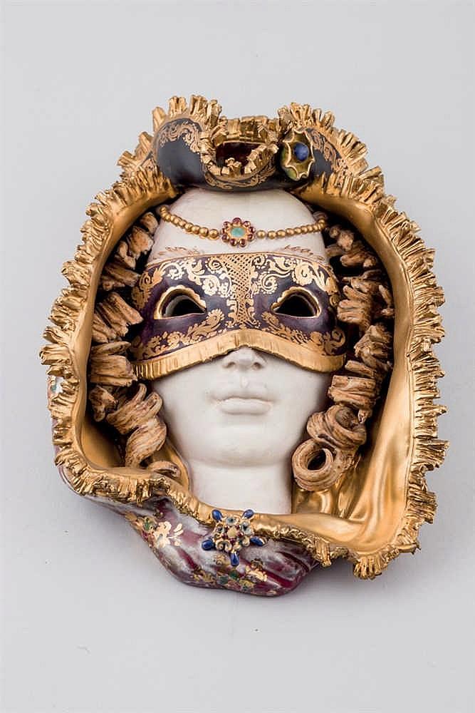 A Venetian ceramic mask