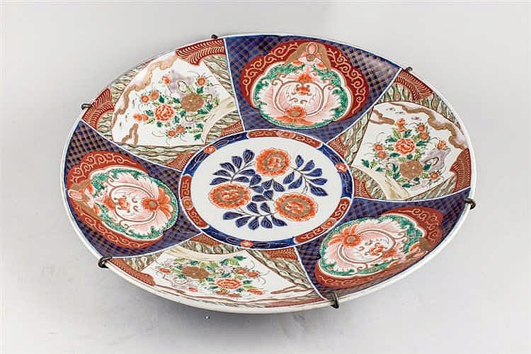 Imari porcelain plate. Japan