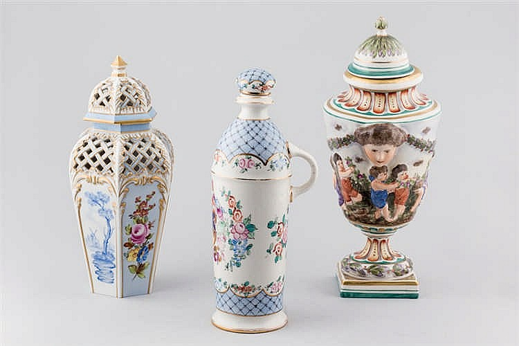 Three pieces of european porcelain