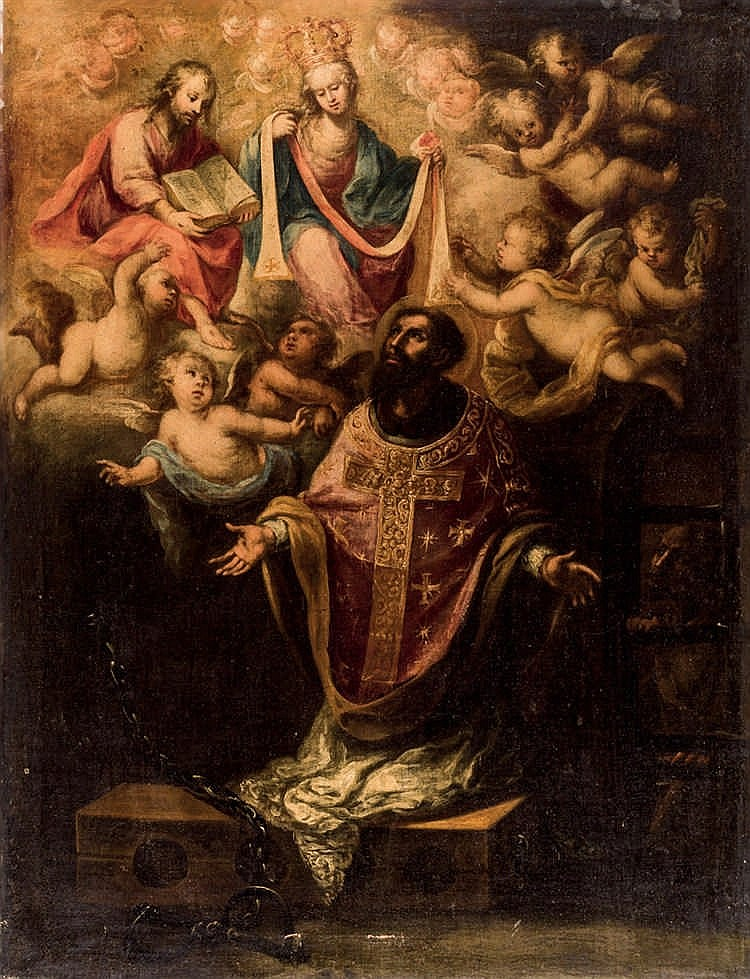 Spanish School, 19th C. Religious Scene