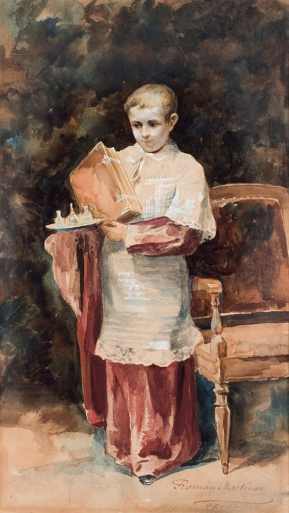 Román Martín. Altar boy