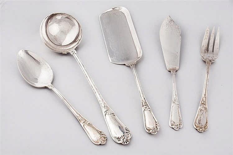 A Spanish silver cutlery
