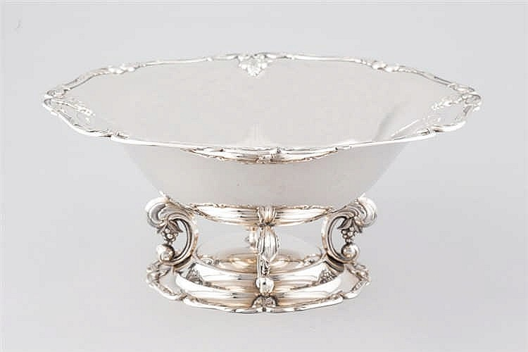 A Spanish silver centrepiece