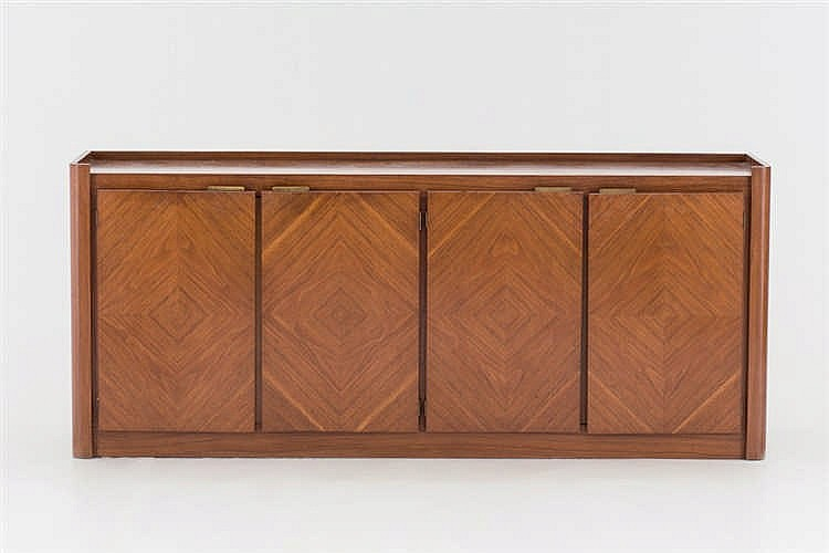 A walnut sideboard