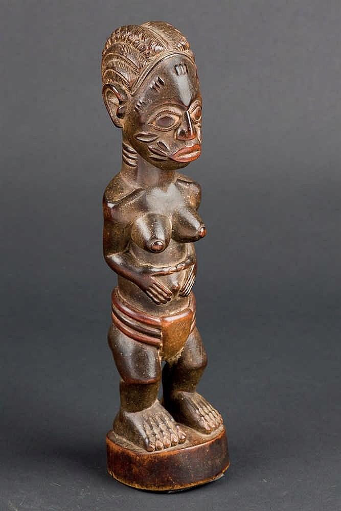 A Baule Colonial Figure, c. 1920-30. Ivory Coast