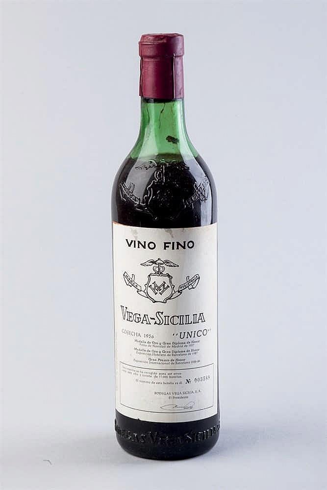 6 bottles Vega Sicilia Único, 1956