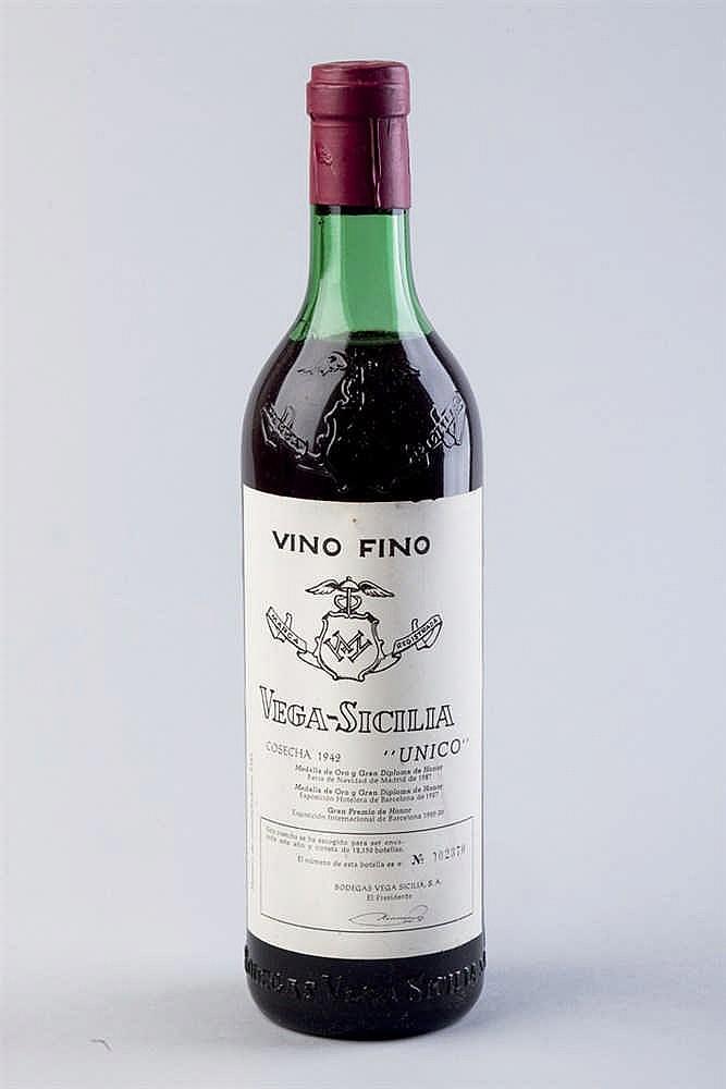 6 bottles Vega Sicilia Único, 1942