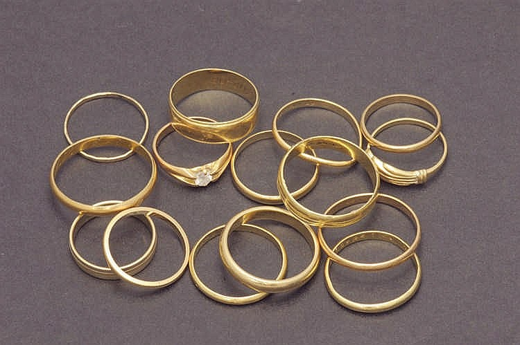 15 gold rings