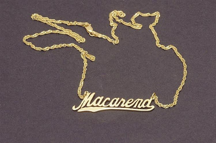 Macarena 18 K. gold pendant