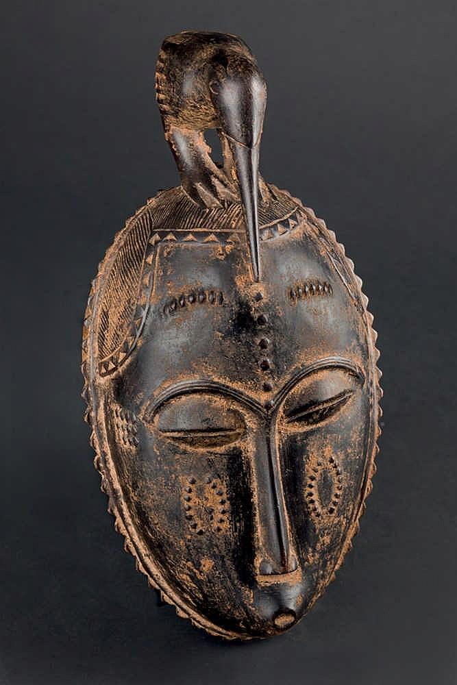 A Yaure Mask, c. 1950-60. Ivory Coast
