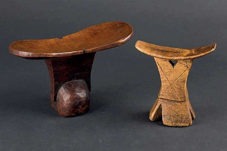 A Pair of Ethiopian Headrests, c. 1960